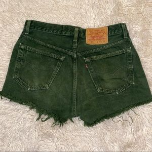 Levi's Vintage 501 forest green dyed shorts